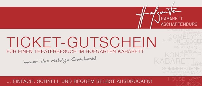 HOFGARTEN KABARETT  GUTSCHEIN
